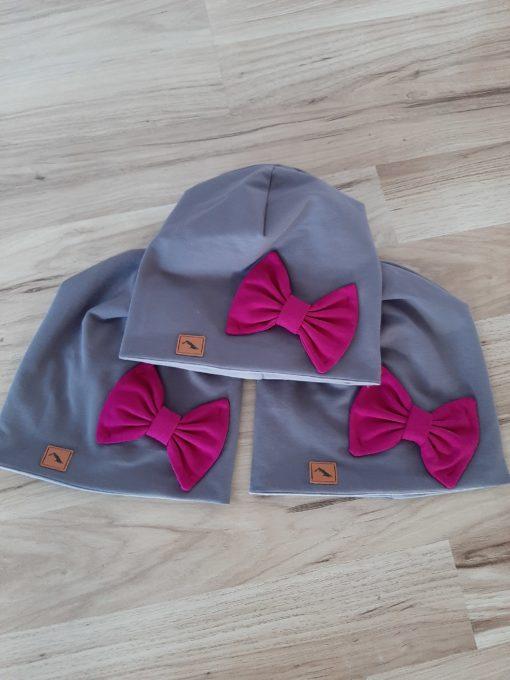 detská bavlnená čiapka s mašľou