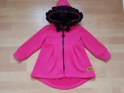 detská bavlnená bunda s mašľou a kapucňou
